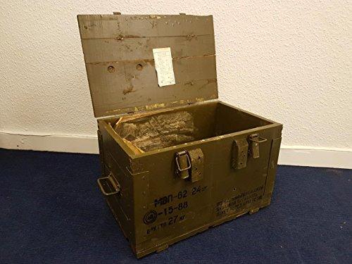 Unbekannt 1 x Originale Munitionskiste Holzkiste aus Holz, Lagerkiste Werkzeugkiste, Transportkiste, Truhe, Militär Dekokist SKW6