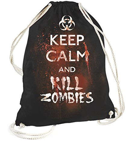 Rock Style Keep Calm And kill zombies 702469 Sports Gym Bags nero taglia unica