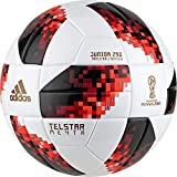 adidas Herren FIFA Fussball-Weltmeisterschaft Knockout Junior Ball, White/Solred/Black, 5