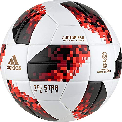 adidas Herren FIFA Fussball-Weltmeisterschaft Knockout Junior Ball, White/Solred/Black, 4 -