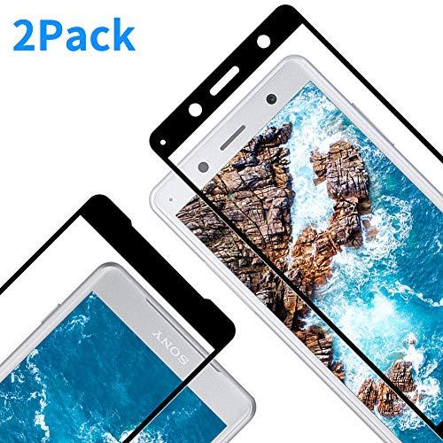 2 Pezzi Alta Trasparente Nessuna Bolla Anti-Impronte Vkaiy Sony Xperia XZ2 Compact Pellicola Protettiva in Vetro Temperato - Durezza 9H Antigraffi Facile da Installare,