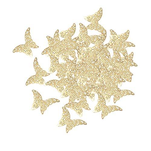 D DOLITY 50 Stück Metall Filigrane Schmetterling DIY Charme Schmuck Erkenntniss Anhänger Charms DIY Basteln - ()