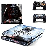 Playstation 4 + 2 Controller Aufkleber Schutzfolie Set - Star Wars Battlefront (6) /PS4