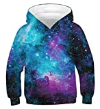 AIDEAONE Jugend Teenager Galaxy 3D Hoodie Hooded Sweatshirt 155-172cm