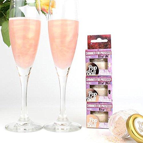 Raspberry Shimmer - Confezione Di Glitter Al Lampone Da Aggiungere Al Prosecco Per Un Effetto Scintillante