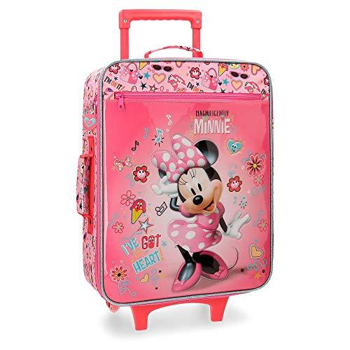 Disney Stickers Valigia per bambini, 50 cm, 25 liters, Rosa