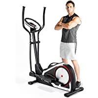 Marcy Onyx C80 Elliptical Cross Trainer with Tablet and Phone Holder - Black/Silver