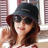 XINQING-MZ Uomini e donne tappo universale visiera esterna alpine hat cap sun giovane tappare le due facciate dell estate, Cap, nero