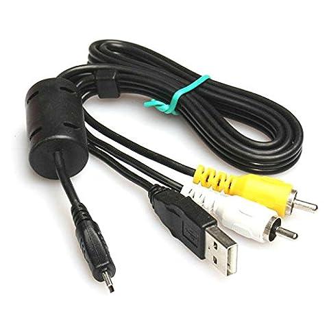 Keple | USB UC AV Audio Video Kabel für Panasonic Lumix DMC-ZS5dmc-zr Serie:/ZR3