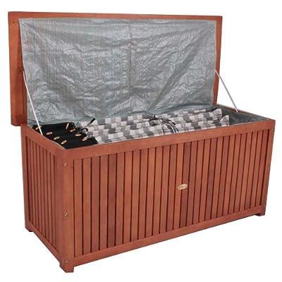 Auflagenbox Holzkiste für Gartenauflagen Auflagenkiste aus Akazie geölt