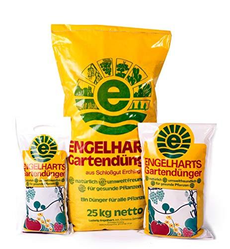 25 kg Engelharts Gartendünger: organischer NPK-Dünger | Freilandpflanzen | Obstbäume | Gartenpflanzen | Langzeitwirkung | Gemüsepflanzen