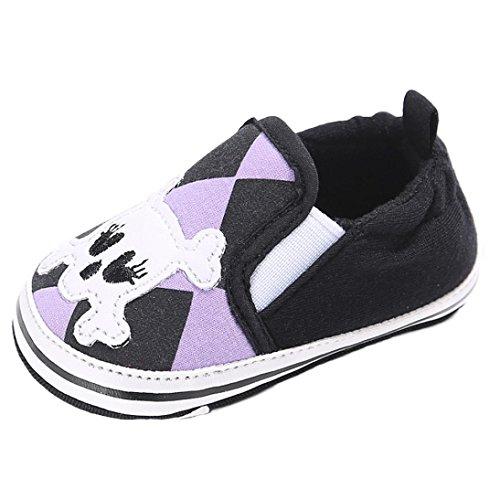 Babyschuhe Longra Baby Mädchen Baumwolle weiche Sohle Schuh Sneaker weiche Schuhe Flats Schuhe Krabbelschuhe Lauflernschuhe(0 ~ 18 Monate) Black