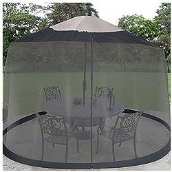 Jobar, pantalla para sombrillas de mesa, 2,75m, negra