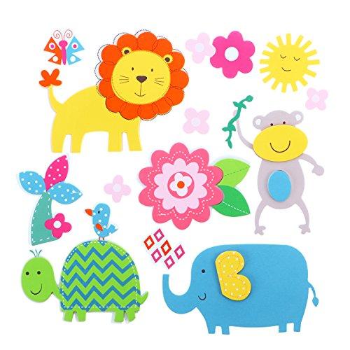 (STOBOK 3D Wandaufkleber Schaum Tiere Wandtattoos Pädagogische Aufkleber Aufkleber für Kindergarten Kinderzimmer Dekor)
