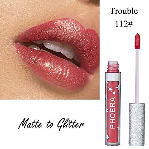 Alian - Maquillage Shiny Glitter Gloss Liquide - Ultra Brillant Rouge A Levre Longue Tenue Pas Cher pour Halloween/Toussaint Cosplay Sorcière Ang