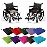 Matching Bedroom Sets Sitzkissen / Pad für Rollstuhl / Elektromobil, hochwertiger Schaumstoff mit komfortablem Bezug aus 100% Baumwolle, mit Befestigungsschlaufen, Fuchsia Pink