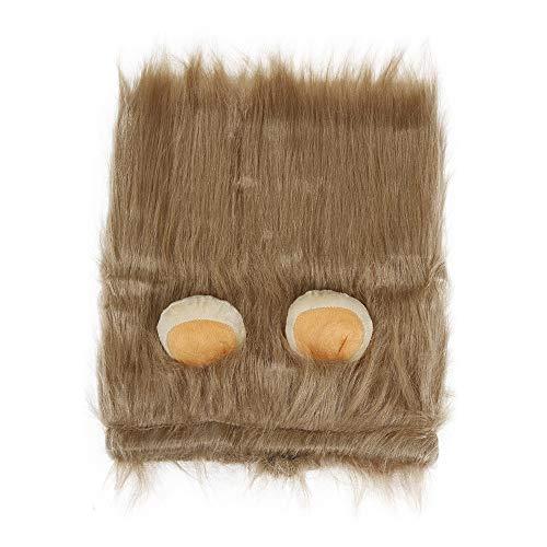 Amphia - Löven Mähne Perücke Einstellbare Lion Mähne Kostüm Lebensechte Haustier Kostüm Lion Mähne Perücke Schöne Haustier Halloween Kostüme mit Ohren, für Mittlere und Große Haustier (Einfache Für Halloween-kostüme Katzen)