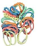 Juego de 30elásticas Cabello, Multicolor–textil–Accesorios attacher pelo