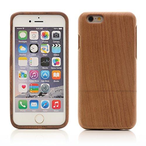 iProtect TPU Schutzhülle Apple iPhone 6 Plus, 6s Plus (5,5 Zoll) Soft Case - flexible Hülle in Holz-Design hölzern braun Kirschbaumholz Hardcase