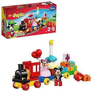 LEGO DuploDisney IlTreninodiTopolinoeMinnie, Grande Set di Costruzioni con Torta da Costruire, Treno e Mattoncini con Numeri, Giocattoli Educativi per Bambini di età Prescolare2-5 Anni, 10597 LEGO