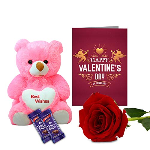 Aart-Store-Velentines-Love-Gifts-for-Girlfriend-Boy-Friend-Husband-Wife-Teddy-Bear-Artificial-Rose-Two-Chocolate-Valentine-Day-Card