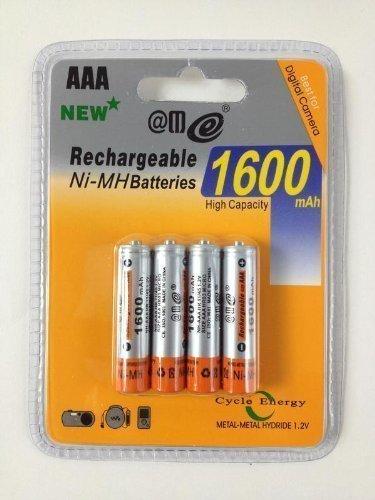 4 x AAA MICRO NI-MH AKKU 1,2V 1600 mAh WIEDERAUFLADBAR BLISTER PACK NEU