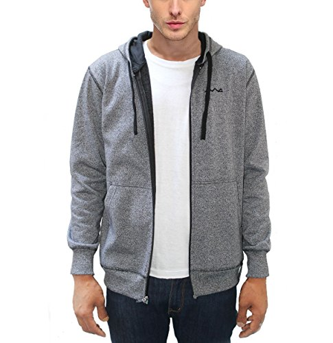 AWG Men's Black Melange Grindle Sweatshirt with Zip - AW17-AWG-GRDL-SS1xxl