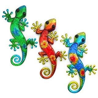 Art Deco Home - Wanddeko Gecko x 3, 37 cm - 13672SG