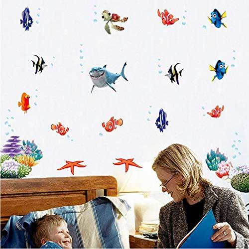 dongwenchao1104 Wandaufkleber Nemo Fish Cartoon Wandaufkleber Für Dusche Fliesen Aufkleber Im Badezimmer Für Kinder Kinder Baby Auf Badewanne (Nemo Baby-dusche Dekorationen)