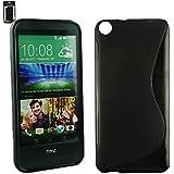 Emartbuy® HTC Desire 820 Ultra Slim Gel Hülle Schutzhülle Case Cover Schwarz