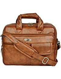 ZIPLINE Synthetic Leather Executive Office Formal Briefcase Messenger bag for men women with multiple compartments