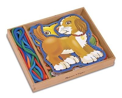 Melissa & Doug - 13781 - Loisir Créatif - 5 panneaux en bois et 5 lacets assortis