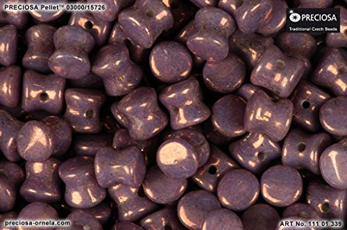 50pcs 4x6mm Pellet Beads - Ceco Pressato Perle di vetro, Vega On Chalk