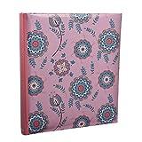 Arpan - Album fotografico con rilegatura a libro, grande, con bustine a inserimento, per 120 foto in formato 12,7 x 17,78 cm, stile shabby chic, motivo floreale, colore: rosa