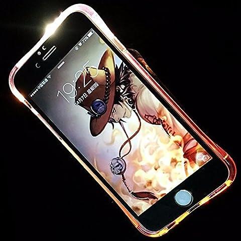 König-Shop Handy Hülle LED Licht bei Anruf für Handy Huawei P9 Lite Pink - Bumper Case Cover