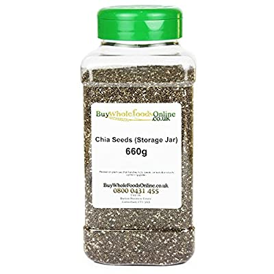 Chia Seeds (Storage Jar) 660g by Buy Whole Foods Online Ltd.