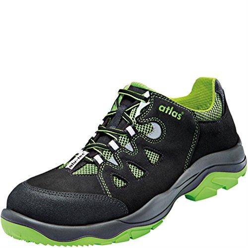 W10 ISO Chaussure Atlas 160 Sécurité 48 negro EN verde alu negro Noir De S1 20345 tec gfndn0qva