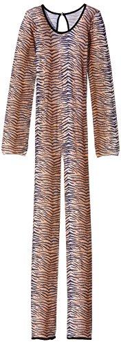 Bodysuit mit Tigermuster Aufdruck, One Size, Braun, 26812 (Herren Tierkostüme Uk)