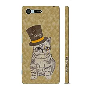 Enthopia Designer Hardshell Case Cat Out of The Hat Back Cover for Sony Xperia X Compact