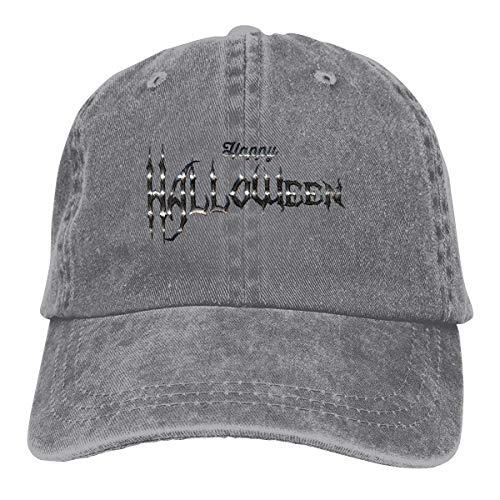 Happy Halloween Unisex Washed Adjustable Fashion Cowboy Hat Denim Baseball Caps