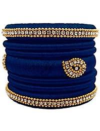 Lavanya Creations Silk Thread Bangle Set For Women (Size: 2.4, Lavanya Creations Silk Thread 1--2.4)