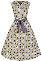 Lindy Bop 'Stephanie' Millésime 1950's Style Tournesol Et Oiseau évasée Robe
