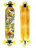 """Best BAMBOU Longboard Skateboards - Skateboard MOSCA NEGRA, modèle The Teeth Breaker 42"""" Review"""