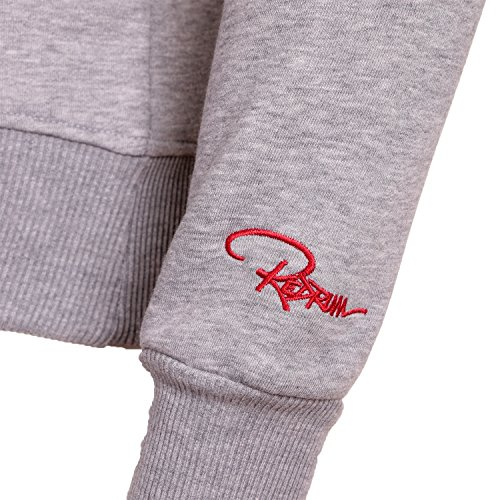REDRUM Kapuzenpullover Herren Pullover Hoody schwarz weiß rot grau Modell Logo Grau