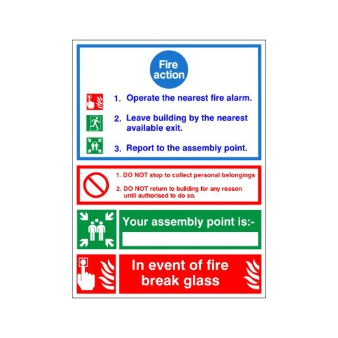 fire-action-if-you-discover-a-fire-sign150x200-rigid-plastic-complete-with-inspirational-print-pack-