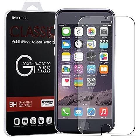 Net Solutions ® Film vitre de protection écran iPhone 7 plus(5,5 pouces) en verre trempé haute transparence et ultra résistant (incassable, inrayable 9H) et Ultra Slim (0.3mm) avec bords arrondis, pour une protection optimale de votre téléphone iphone 7 plus