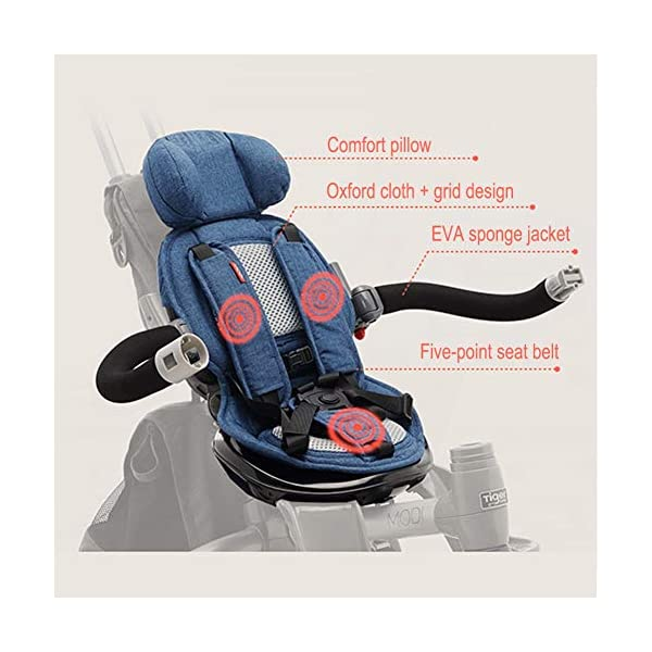 GSDZSY - 4 IN 1 Multifunction Children Tricycle, Adjustable Seat, Baby Can Sit Or Lie Flat, The Seat Is Comfortable And Easy To Use,1-6 Years Old GSDZSY ❀ Material: High carbon steel + ABS + EVA wheel, suitable for children from 1 to 6 years old, maximum load 30 kg ❀ Features: The seat can be rotated 360; the backrest can be adjusted, the baby can sit or lie flat, adjustable push rods and parasols, suitable for different weather conditions ❀ Performance: high carbon steel frame, strong and strong bearing capacity; rubber wheel suitable for all kinds of road conditions, good shock absorption, seat with breathable fabric, baby ride more comfortable 5