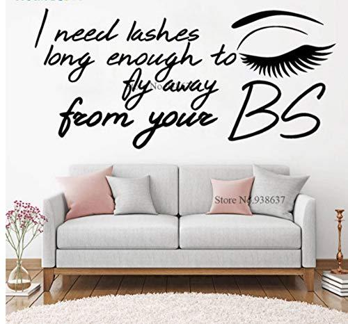 Wimpern lautes Gespräch Schönheitssalon neues Design bieten Aufkleber Make-up Beauty Kosmetik Fall dekorative Wandaufkleber B99762 * 42
