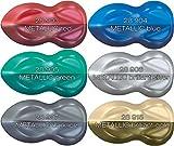 Airbrush Farben-Set Schmincke Aero Color Professional Basis 22 x 28 ml + 7 Leere Pipetten Falschen Effektfarben Metallic - 5