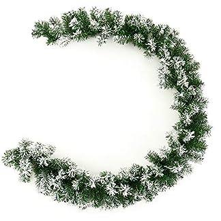 Iraza Guirnalda de Pino Artificial y Nieves de Longitud 180cm para árbol de Navidad nevado